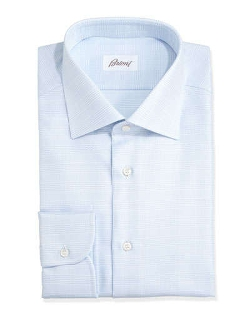 Brioni - Glen Plaid Dress Shirt
