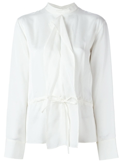 Jil Sander   - Waist Tie Band Collar Blouse