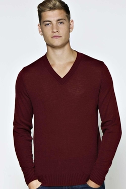 Boohooman Basics - Basic V Neck Jumper