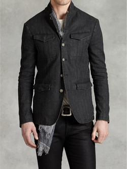 John Varvatos - Linen Button Front Jacket