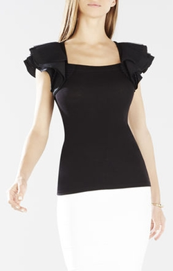 BCBGMAXAZRIA  - Mirabelle Layered Sleeve Top