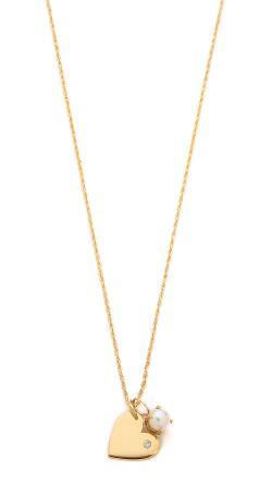 Jennifer Zeuner Jewelry  - Scarlet Diamond Heart Necklace