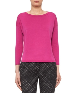 Akris punto - Bateau-Neck Bracelet-Sleeve Sweater