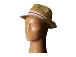 Vince Camuto - Striped Grosgrain Raffia Fedora Hat