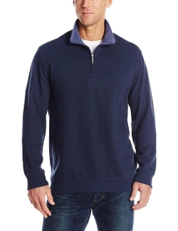 Van Heusen - Long Sleeve Quarter Zip Spectator Pullover Sweater