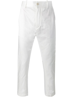 Ann Demeulemeester  - Cropped Sheen Trousers