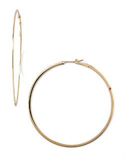 Roberto Coin   - Yellow Gold Hoop Earrings