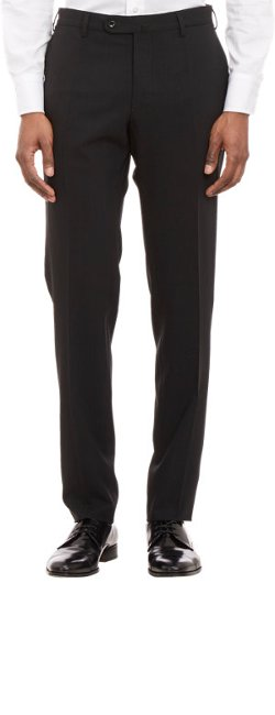 Incotex  - Worsted Wool Slim Trousers