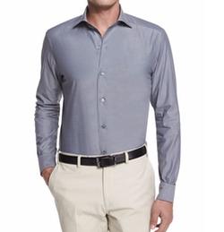 Ermenegildo Zegna - Solid Chambray Long-Sleeve Shirt