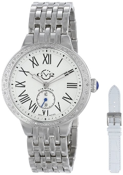 GV2 By Gevril - Diamond-Studded Stainless Steel Watch