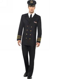 Online Fancy Dress - Navy Officer Costume