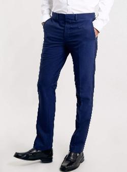 TOPMAN - Cobalt Tuxedo Pants