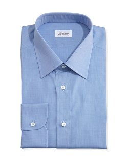 Brioni   - End-on-End Dress Shirt