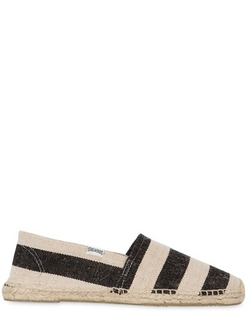 Soludos - Henley Striped Cotton Canvas Espadrilles