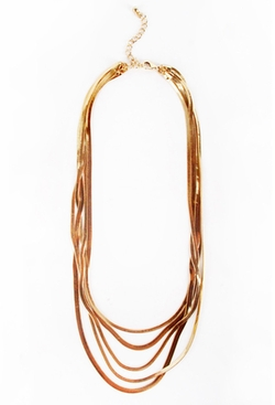 Patricia Field - Gold Multi Layered Papi Chain Necklace