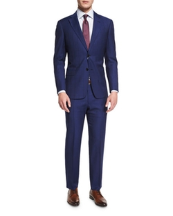 Armani Collezioni - G-Line Textured Windowpane Wool Suit