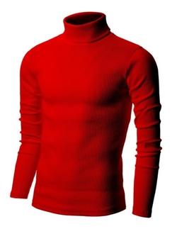 Nyfashioncity - Basic Ribbed Cotton Thermal Turtleneck T-Shirts