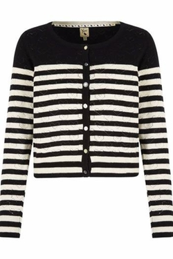 Pink Poodle Boutique - Striped Pointelle Cardigan