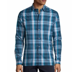 Vince - Plaid Long-Sleeve Sport Shirt