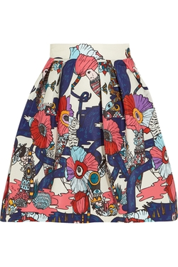 Mary Katrantzou  - Algernon Printed Faille Mini Skirt