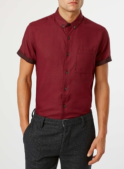 Topman - Textured Short Sleeve Smart Shirt