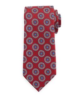 Ermenegildo Zegna - Circle-Medallion Print Silk Tie