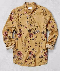 Your Neighbors  - Ornate Floral Button-Down Shirt