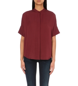 Michael Michael Kors - Short-Sleeved Silk Blouse