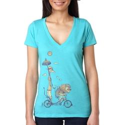 Generic - Lion And Giraffe V-Neck T-Shirt