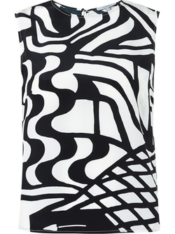 Isolda - Sleeveless Printed Blouse