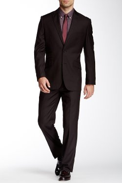 English Laundry  - Dual Pinstripe Two Button Notch Lapel Suit