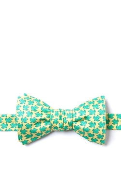 Alynn - Micro Sea Turtles Self Tie Bow Tie