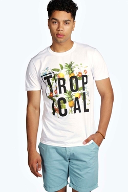 Boohooman - Tropical Printed T-Shirt