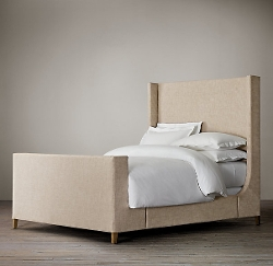 Restoration Hardware - Grayson Fabric Sleigh Bed