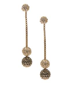 Judith Jack -  Sterling  Linear Drop Earrings