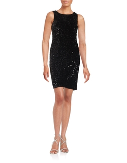 Chetta B - Sequined Shift Dress