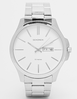 Sekonda - Date Window Stainless Steel Watch