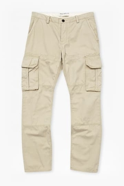 French Connection - Watercolour Cotton Cargo Trousers