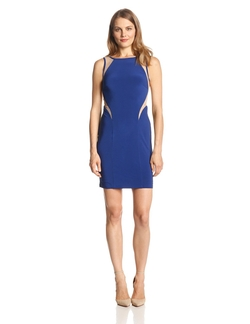 Hailey By Adrianna Papell - Sleeveless Low-Back Illusion-Detail Dress