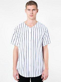 American Apparel - Pinstripe Thick Baseball Knit Jersey