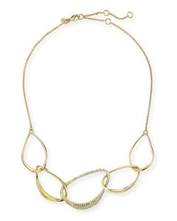 Alexis Bittar - Liquid Golden 5-Link Orbiting Aura Necklace