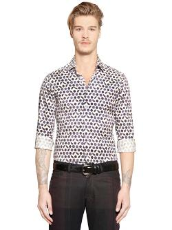 Etro  - Micro Paisley Printed Cotton Shirt