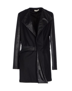 Alysi - Faux Leather Sleeved Coat