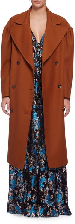 Lanvin - Long-Sleeve Silk Trenchcoat