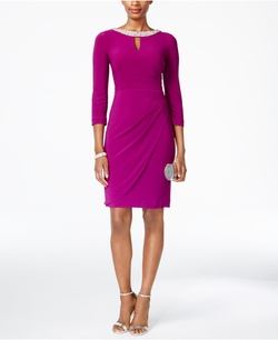 Alex Evenings - Keyhole Faux-Wrap Dress