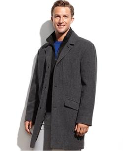 Marc New York - Contrast-Bib Herringbone Walking Coat