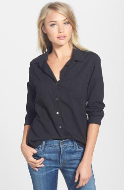 Velvet by Graham & Spencer  - Cotton Button-Down Shirt