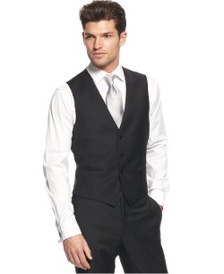 Calvin Klein  - Solid Wool Slim-Fit Vest