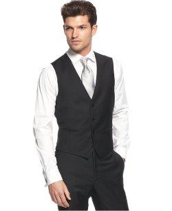Calvin Klein  - Solid Wool Slim-Fit Vest