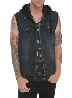 Rude - Indigo Hooded Cap Denim Vest